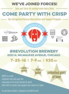 crisp party flyer
